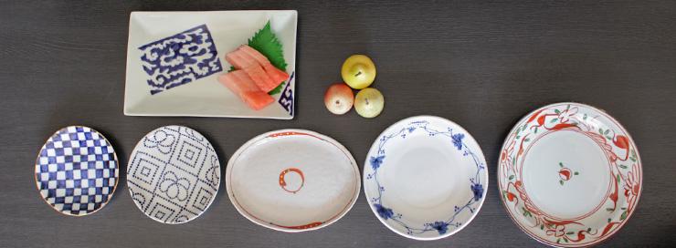 器の店の和の皿